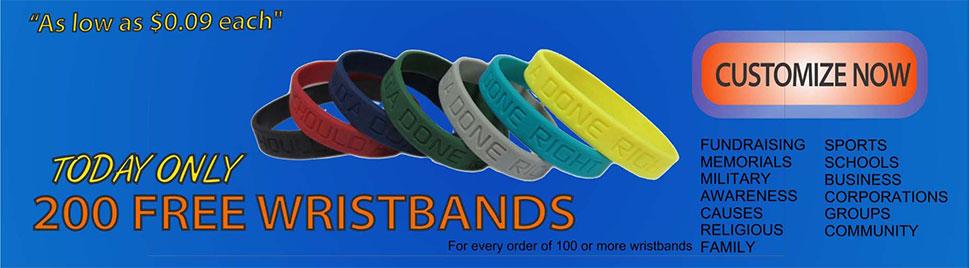 Silicone Wristband Customized Wristbands Rubber Bracelets