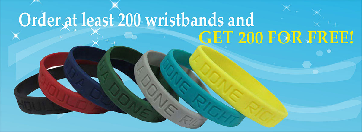 Get 200 Wristbands Free Banner