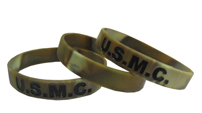 Military Salute The Troops Silicone Bracelets Getwristband